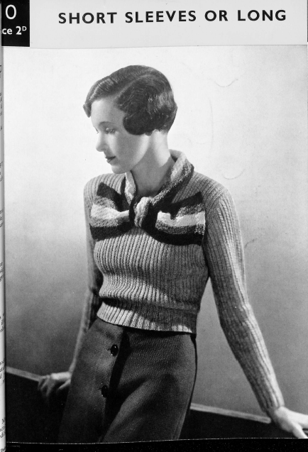 Miss Lemon's Jumper 1930s vintage knitting pattern