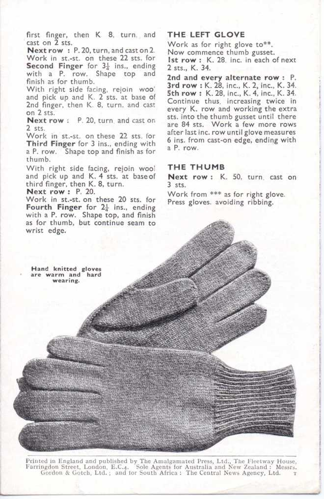 Bestway 1777 men's gloves free knitting pattern 3