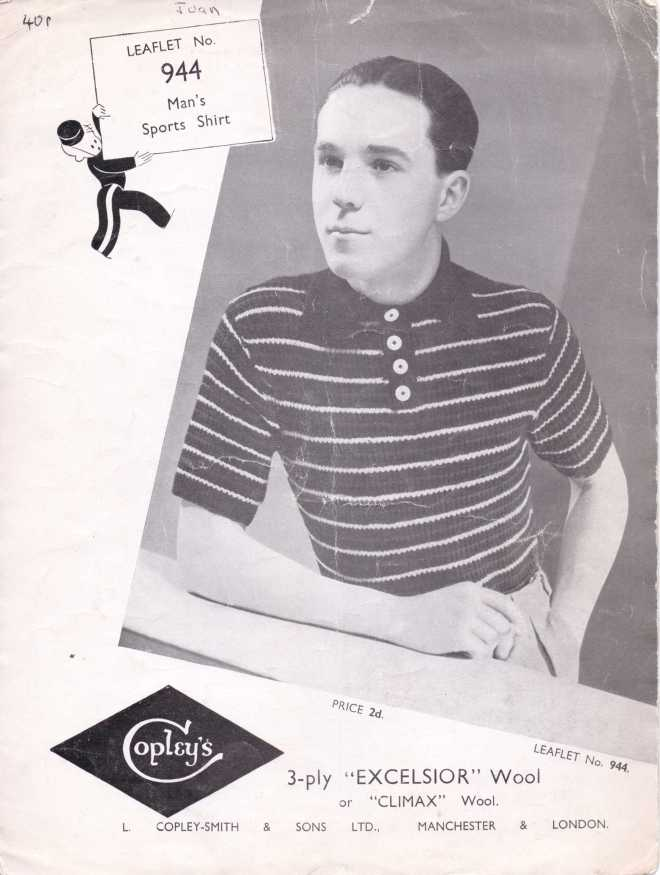 Copley's free knitting pattern men's