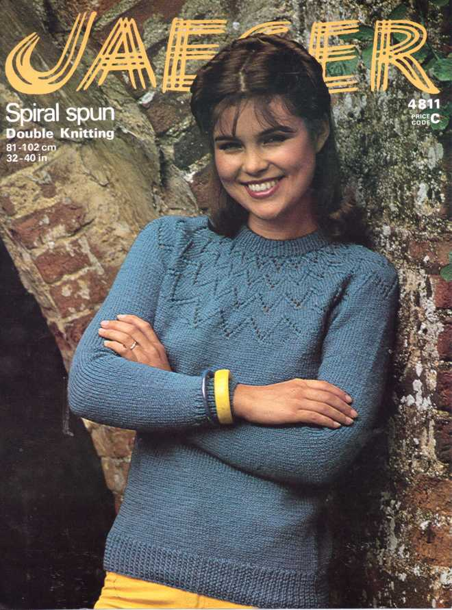 Jaeger 4811 ladies jumper free knitting pattern