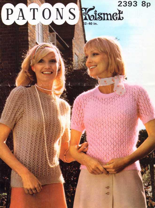Patons 2393 ladies jumper free knitting pattern