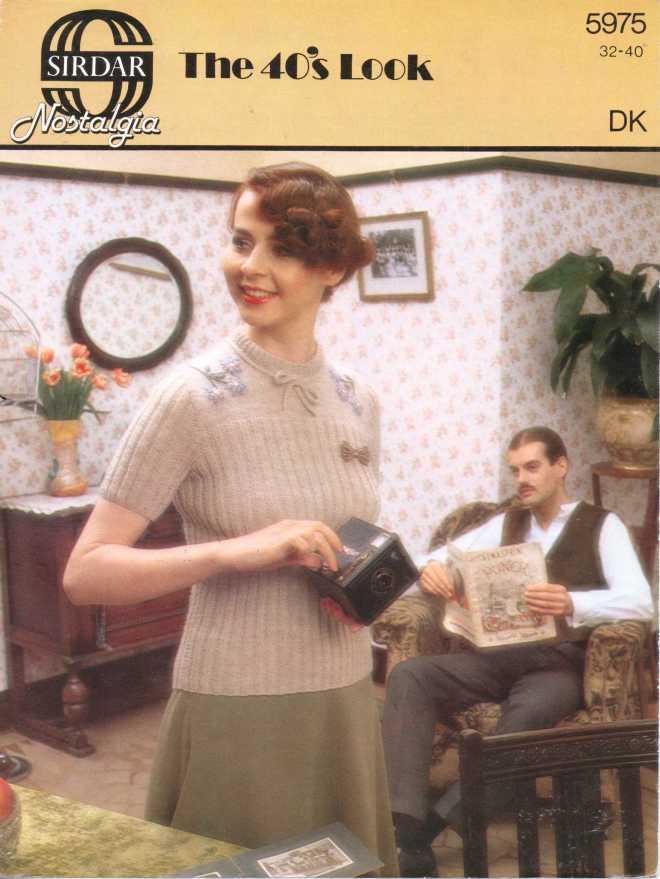 Sirdar 5975 ladies jumper free knitting pattern
