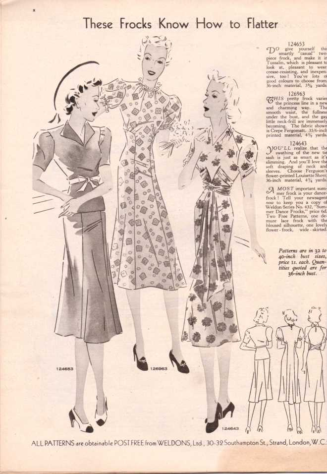 Weldon's Ladies Journal 1938 free knitting pattern11