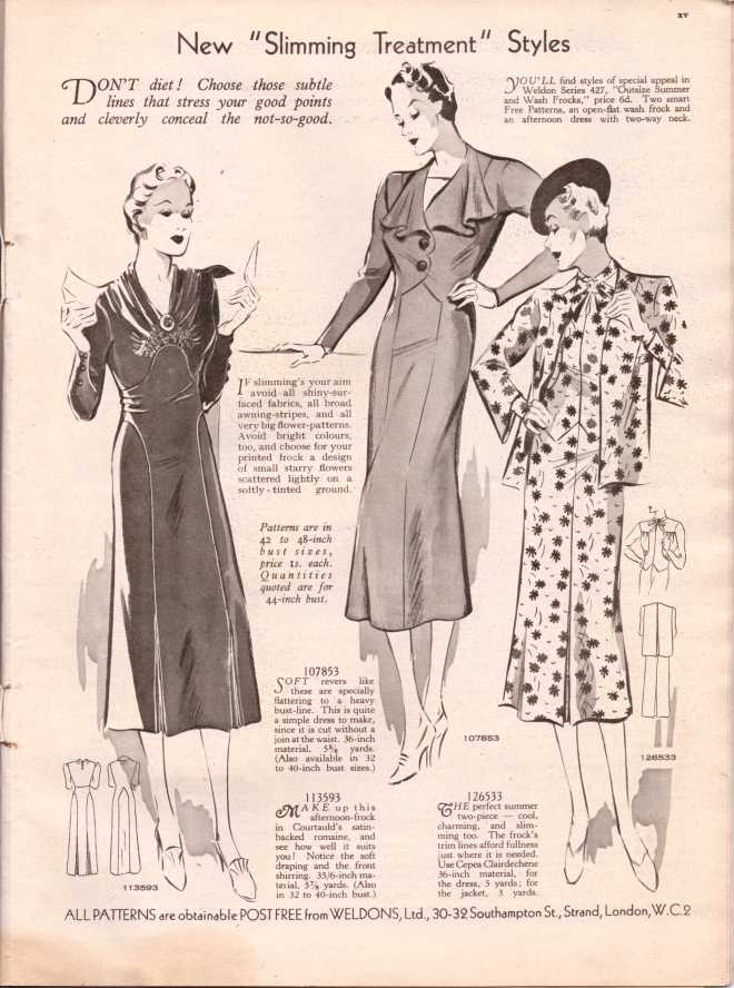 Weldon's Ladies Journal 1938 free knitting pattern16