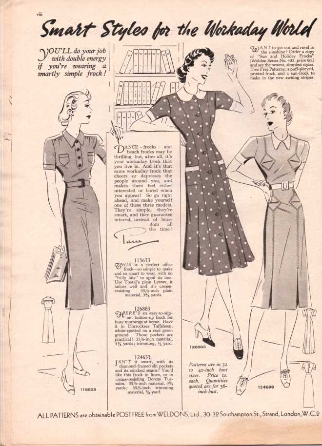 Weldon's Ladies Journal 1938 free knitting pattern9