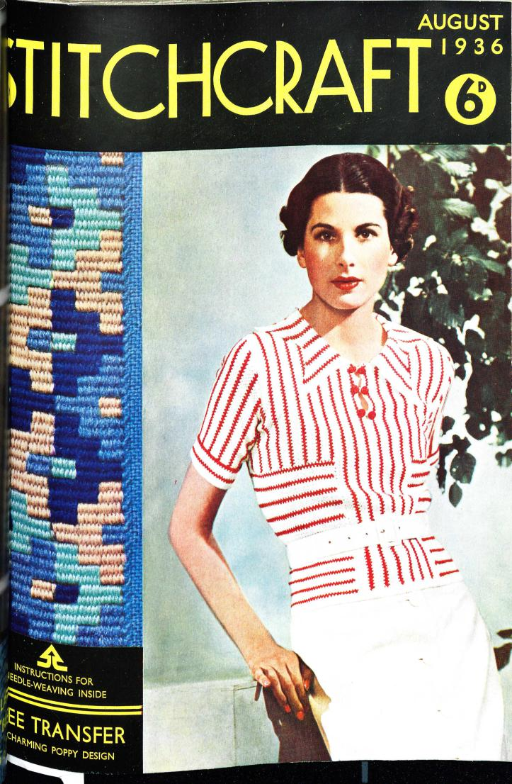 Stitchcraft August 1936 free vintage knitting pattern