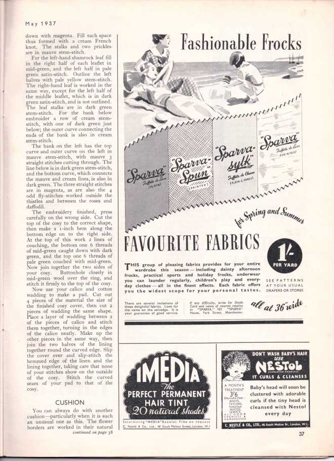 Stitchcraft May 193738