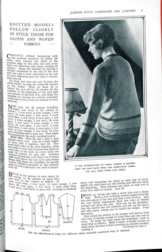 free vintage knitting pattern from Sunny Stitcher page3