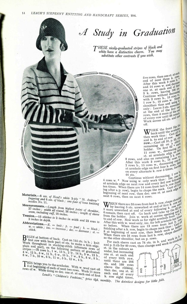 Free Vintage Knitting Pattern from Sunny Stitcher