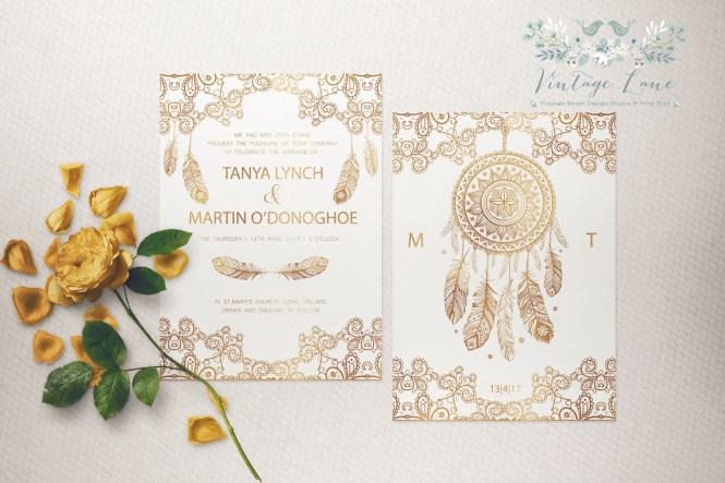 Animal Wedding Invitations Rustic Oho Style Ireland Cork Vintage Lane Kate Kosareva Designs