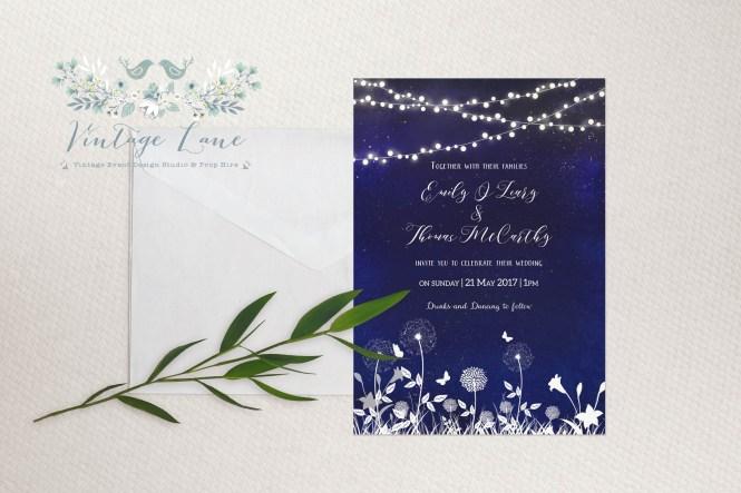 Garden Themed Navy Blue Laser Cut Wedding Invites Swws025 1