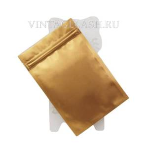 Алюминиевый герметичный пакет с зип застежкой 12х18 см