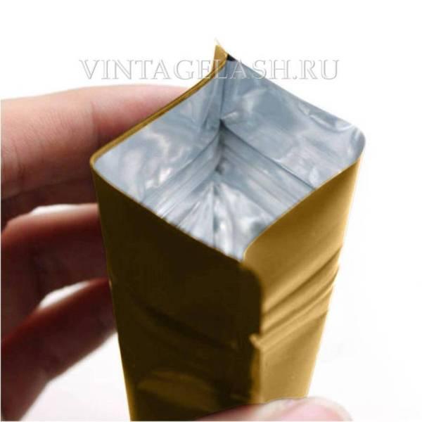 Алюминиевый герметичный пакет с зип застежкой 12х18 см1