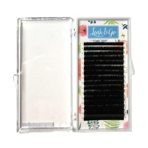 Черные ресницы Lash&Go Изгиб D (микс) 16 линий