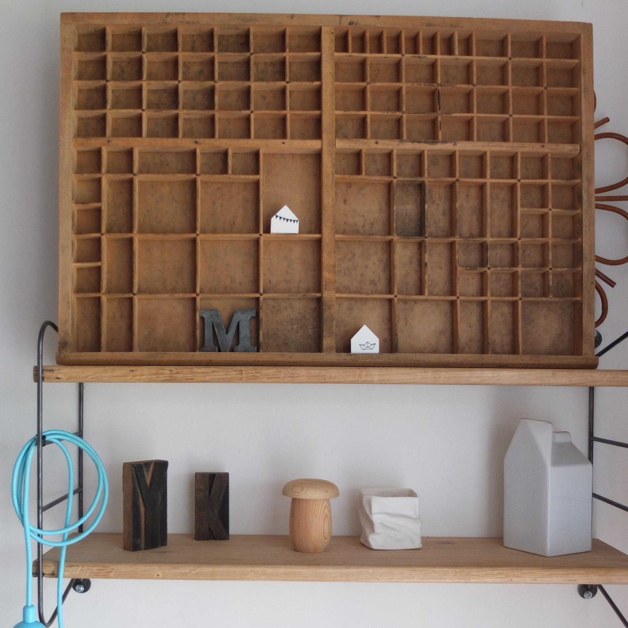 casier d 39 imprimerie vintage magic. Black Bedroom Furniture Sets. Home Design Ideas