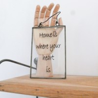 "Cadre ""home is where your heart is"""