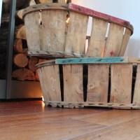 Cagettes lattes en bois