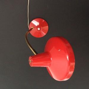 Lampe Aluminor rouge, années 50