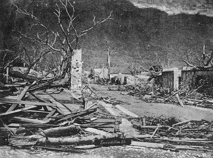 Enniskillen Street - Port Louis - Cyclone 1892