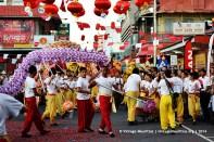 Port Louis China Town Mauritius Dragon Dance Parade