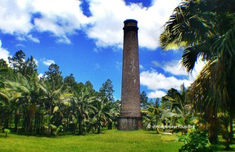 Stone Chimney found at the Alma Estate. Said to be the chimney of the sugar mill.