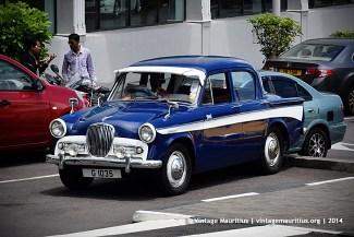 Blue Singer Gazelle Classic Vintage Car Mauritius