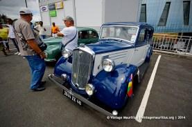 Blue Wolseley Classic Vintage Car Mauritius 1948