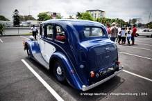 Blue Wolseley Classic Vintage Car Mauritius Rear