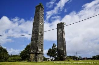 Gros Bois Sugar Mill Stone Chimneys