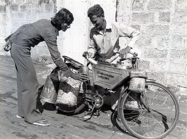 Milkman - Milk Seller - Mauritius - 1960s - Courtesy: Vicky Cushmajee
