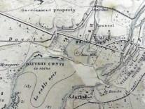 Port Louis Map 1958 Donjon St Louis