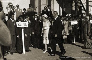 Visit of Queen Elisabeth II in Mauritius - At Mon Desert Alma S.E - Mar 1972 (Courtesy: Frédéric Nokiah)