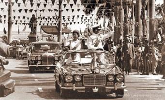 Queen Elizabeth and Prince Philip - Visit Mauritius - Mar 1972 Place D'Armes