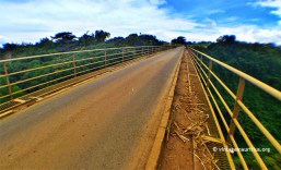 On the Riviere des Anguilles Railway Bridge