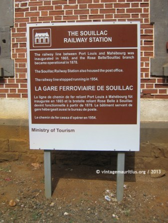 Souillac Train Station MTPA Signplate