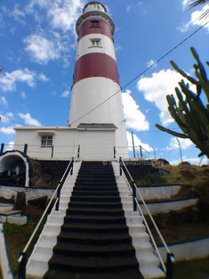 The first steps to the lighthouse platform