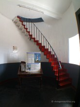 The Main room of the Lighthouse with Stairs to start the climb