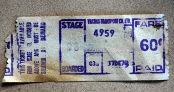 Vacoas Transport Bus Ticket - 17DEC1976 - Courtesy: Seewonlall Seeruttun