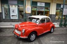 Vintage Valentine Morris Minor Orange
