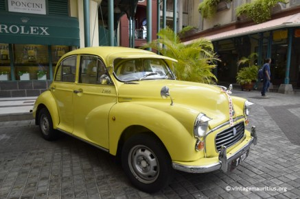 Vintage Valentine Morris Minor Yellow