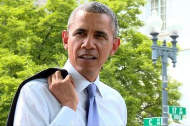 President Obama Takes A Surprise Walk Through D.C.