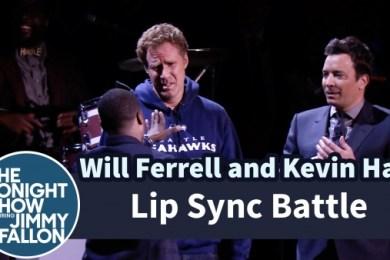 Will Ferrell, Kevin Hart And Jimmy Fallon Hilarious Lip Sync Battle