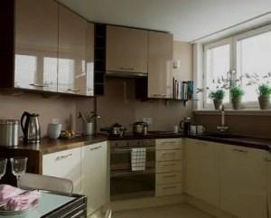 Cocina pequeña y moderna