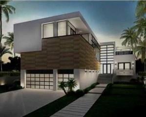 Construcción de chalets modernos fachada