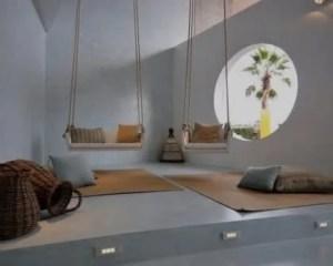 Microcimento e cimento afagado pavimento e paredes