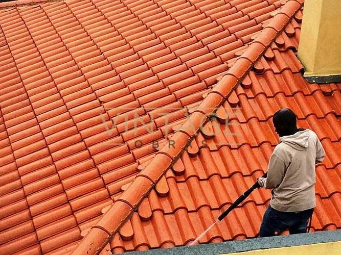Lavagem de telhado