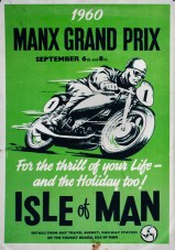 Isle Of Man 1960 Motorcycle Poster