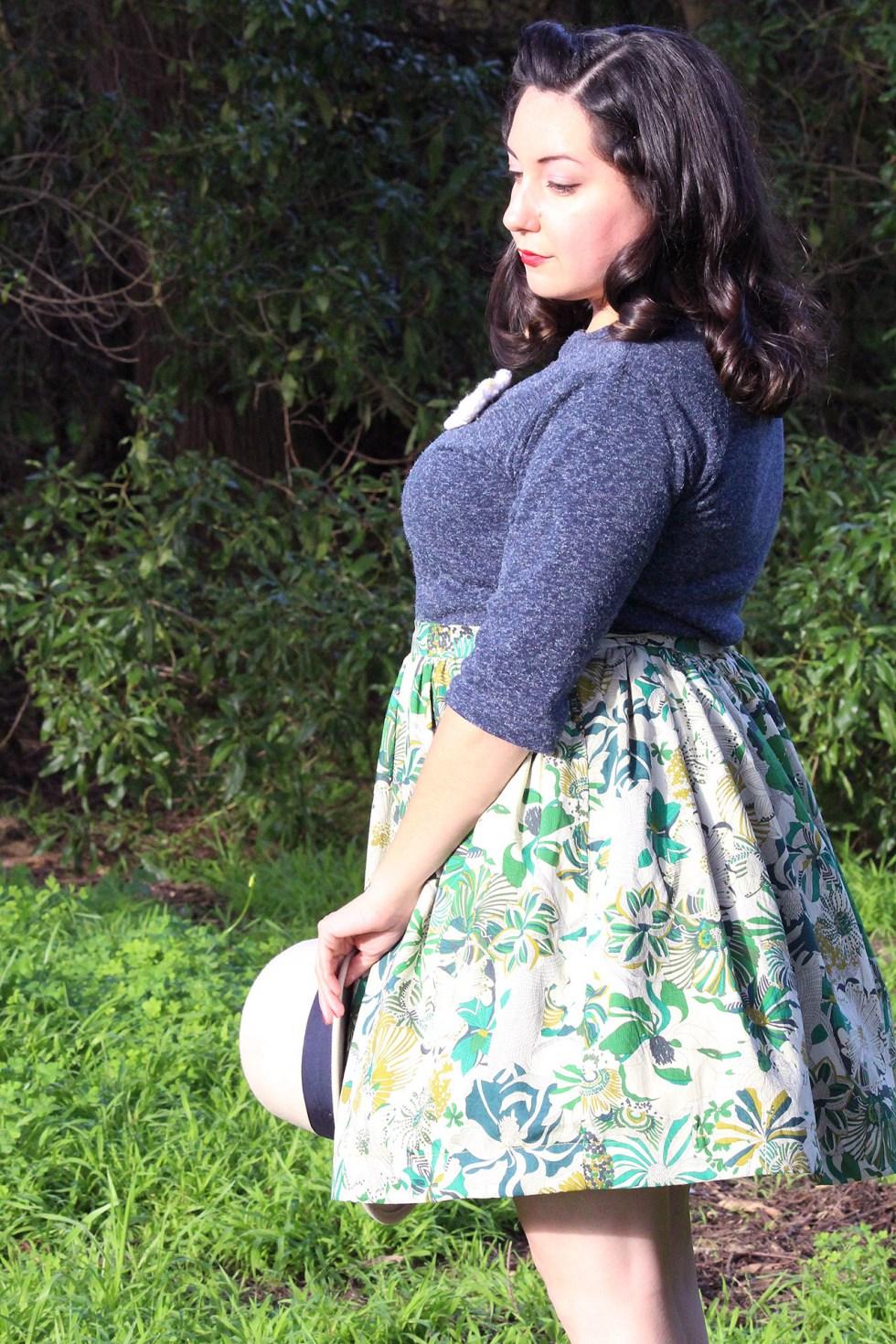 Dirndl Skirt, 50s retro style | @vintageontap