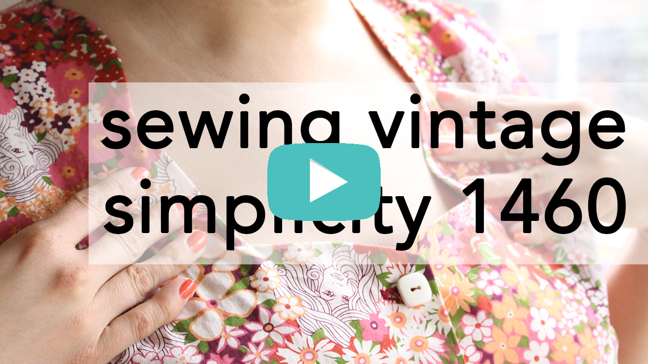 Sewing Vintage Simplicity 1460 tutorial video | Vintage on Tap