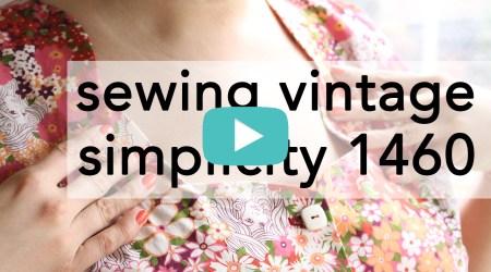 Sewing Vintage Simplicity 1460 tutorial video | Vintage on Tap
